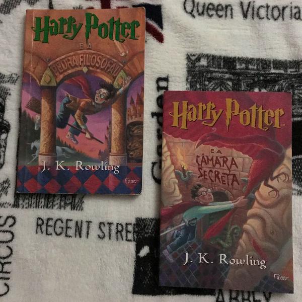 Livros harry potter volume 1 e 2