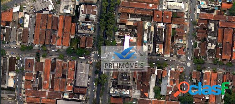 Terreno à venda, 240 m² por r$ 852.000,00 - gonzaga - santos/sp