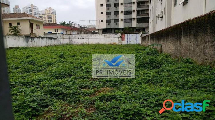 Terreno à venda, 1000 m² por r$ 4.500.000,00 - ponta da praia - santos/sp