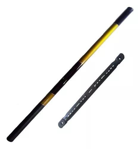 1 vara de mão telescópica 4,50m 8 lbs c/ enrolador