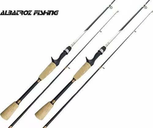 2 varas pesca fibra de carbono para carretilha topaz
