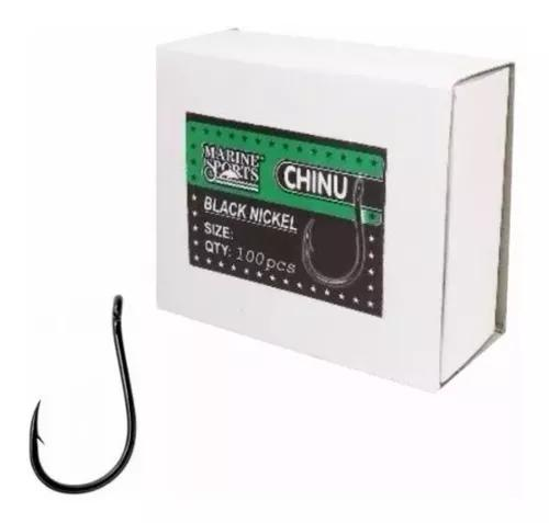 Anzol chinu nº 9 black nickel - marine sports - 100 peças