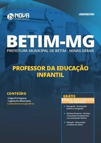 Apostila prefeitura betim mg 2019 professor educaçã