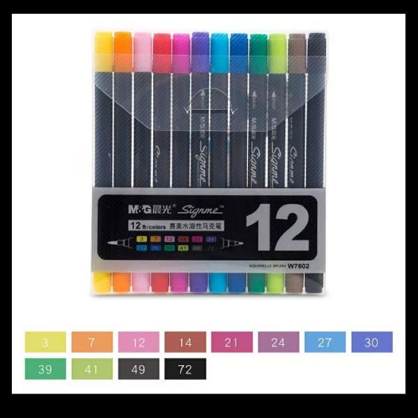 Brush pen (caneta ponta pincel)
