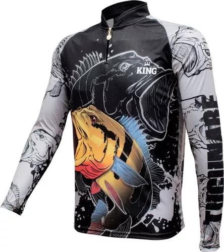 Camisa camiseta pesca king proteção uv