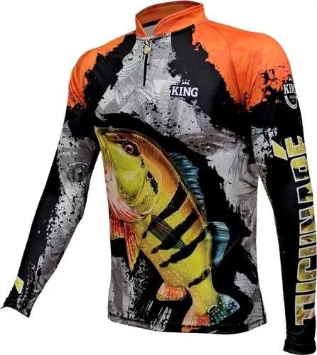 Camisa camiseta pesca king proteção uv kff 600