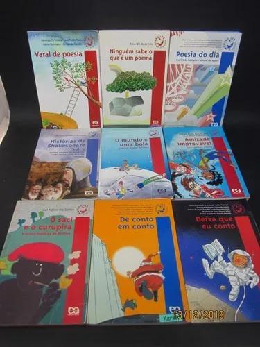 Coleção série quero ler 9 livros poesia folclore