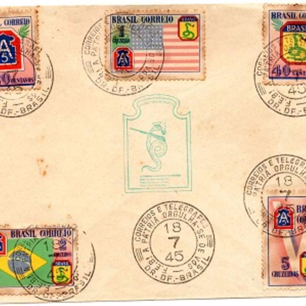 Envelope comemorativo feb com carimbo 1º dia