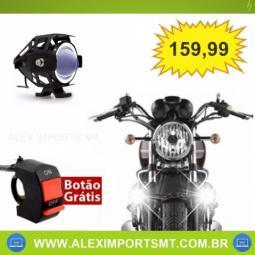 Farol de Milha Led para Moto Universal Alumínio U7