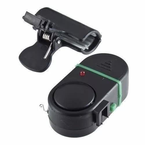 Kit 5 alarme para vara com led de pesca bateria inclusa