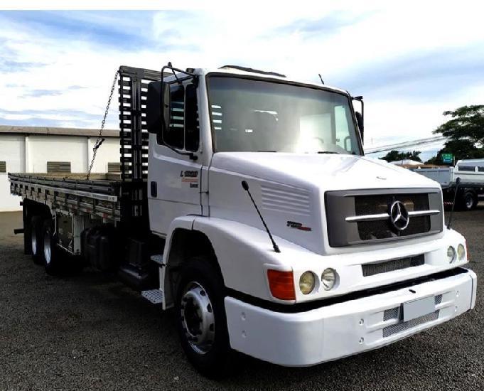 Mb 1620 l truck 6x2 carroceria alta ano e modelo 12
