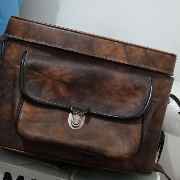 Bolsa de couro legítimo anos 70