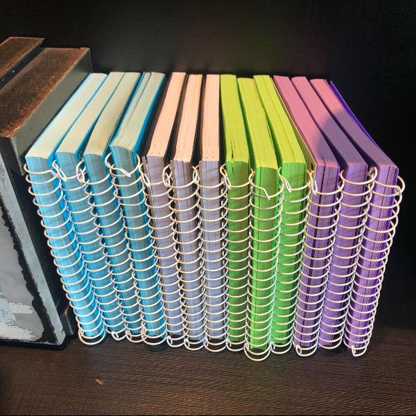 Cadernos neon novos
