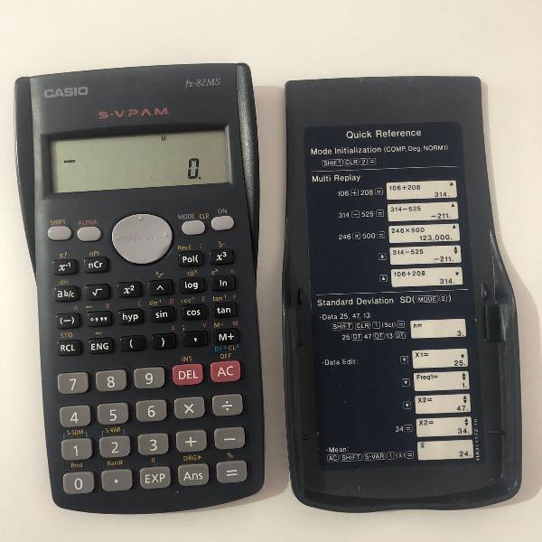 Calculadora científica com 240 funções casio