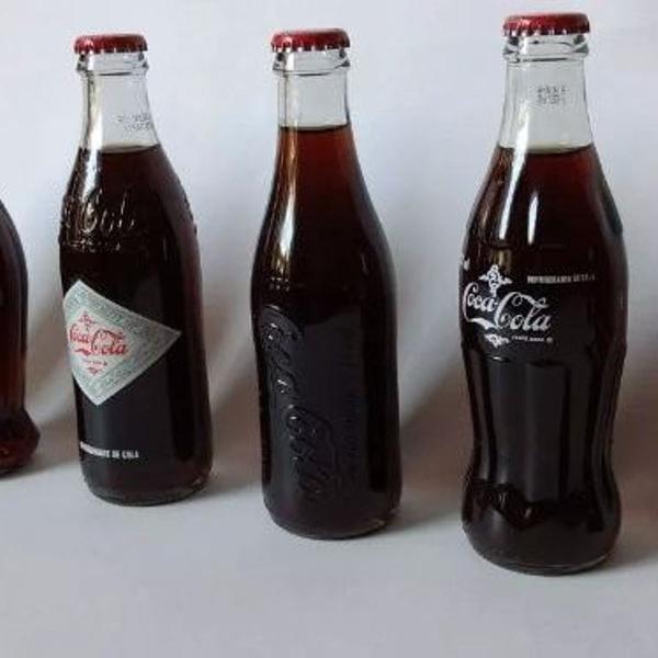 Coca cola retrô kit com 6 garrafas edição natal- 2015