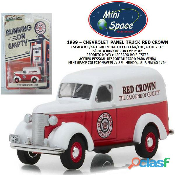 Greenlight 1939 chevrolet panel truck logo red crown 1/64