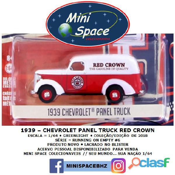 Greenlight 1939 Chevrolet Panel Truck logo Red Crown 1/64 8