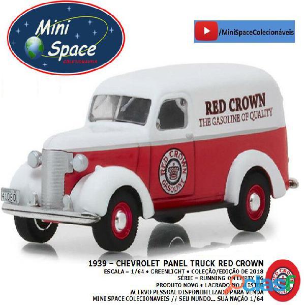 Greenlight 1939 Chevrolet Panel Truck logo Red Crown 1/64 3