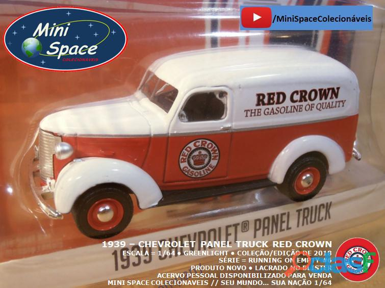Greenlight 1939 Chevrolet Panel Truck logo Red Crown 1/64 4