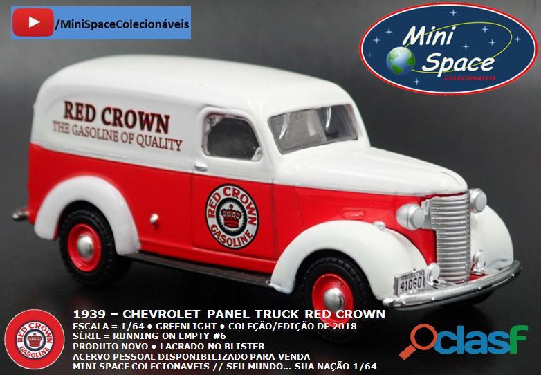 Greenlight 1939 Chevrolet Panel Truck logo Red Crown 1/64 6