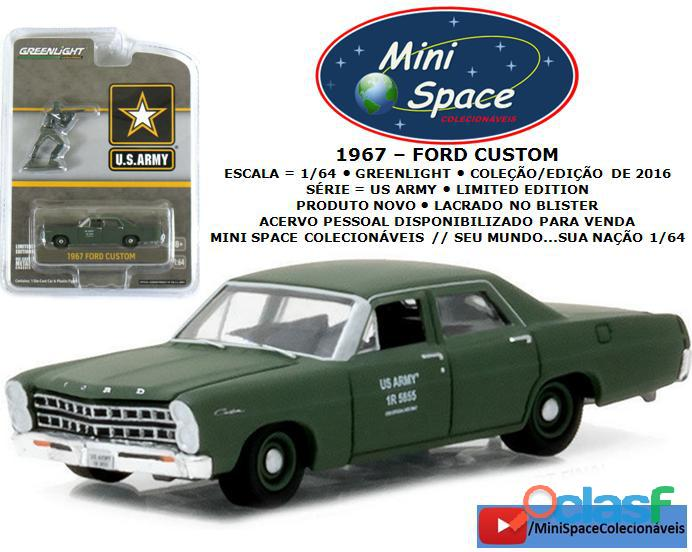 Greenlight 1967 ford custom us army militar 1/64