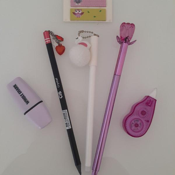 Kit canetas lilás