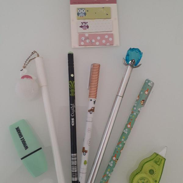 Kit canetas verde