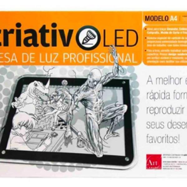 Mesa de luz profissional a4 criativo led