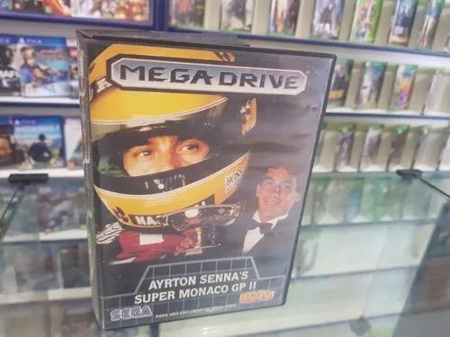 Ayrton senna super mônaco gp 2 usada original mega drive