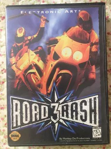 Cartucho road rash 3 mega drive original completo