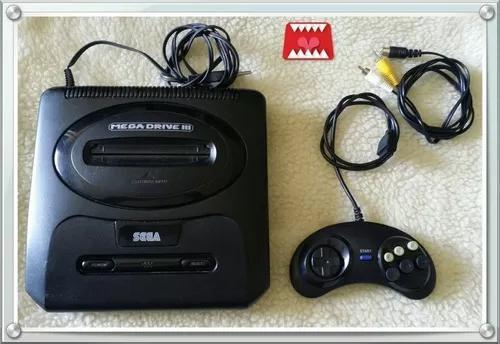 Console mega drive 3 + controle e cabo av tectoy/sega