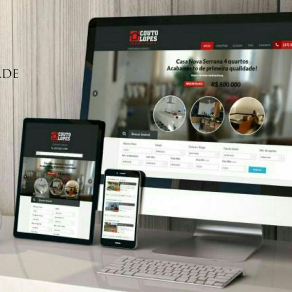 Criação de sites, lojas virtuais + domínio gratuito