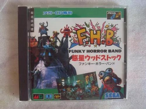Fhb funky horror band mega cd original jogo japao game sega