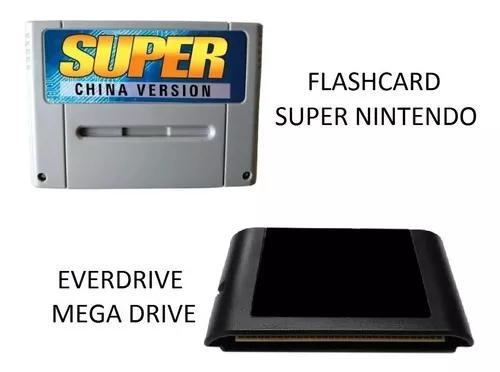 Flashcard snes super nintendo + everdrive sega mega drive md