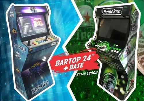 Fliperama bartop arcade 24 com base killer malvadeza.