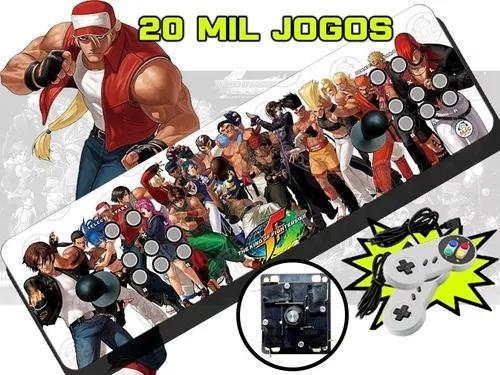 Fliperama portatil 20000 jogos zero delay 64g + 2 controles