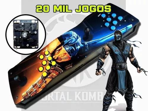 Fliperama portatil arcade pró 20000 jogos 64gb + 2
