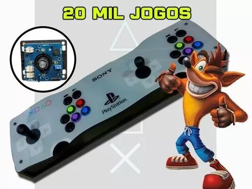 Fliperama portatil arcade pró 20000 jogos c.magnético 64gb