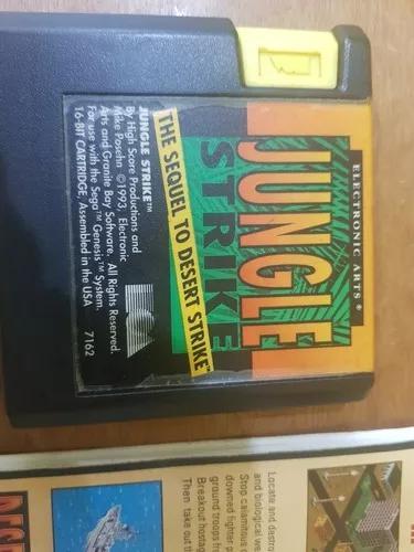 Jungle strike usa original usada manuais case mega drive
