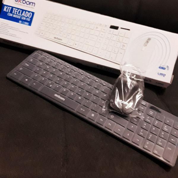 Kit teclado com mouse sem fio