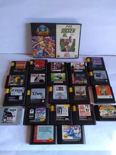 Lote de jogos originais mega drive sega genesis (24 jogos).