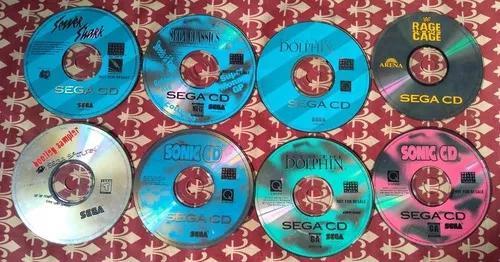 Lote de jogos sega cd com defeito (leia descrição)