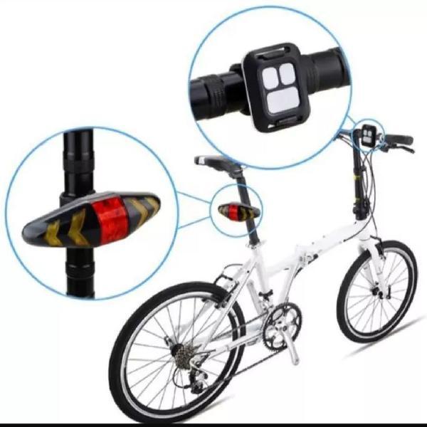 Luz recarregável cabo usb para bike