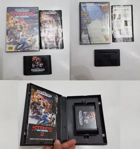 Mega drive streets of rage 2 original completo c/ manual
