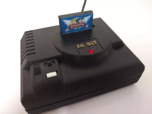 Mini vídeo game retro megadrive (2 cont s/ fio) 32gb