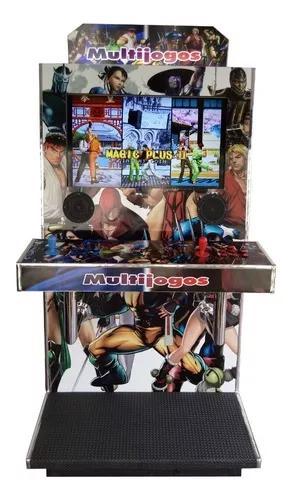 Máquina Multijogos 32 Pol Cromada 5000 Jogos