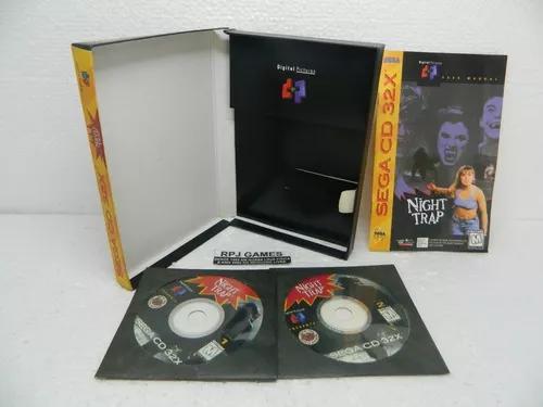 Night trap original c/ caixa manual p/ mega sega cd 32x 32 x