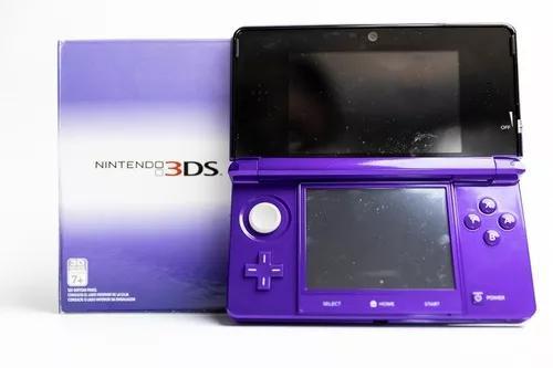 Nintendo 3ds midnight purple com catão 2gb e caixa.