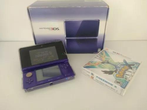 Nintendo 3ds purple na caixa impecável + 5 jogos e pokémon