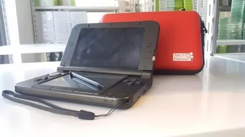 Nintendo 3ds xl preto + cartão 4gb + case + película